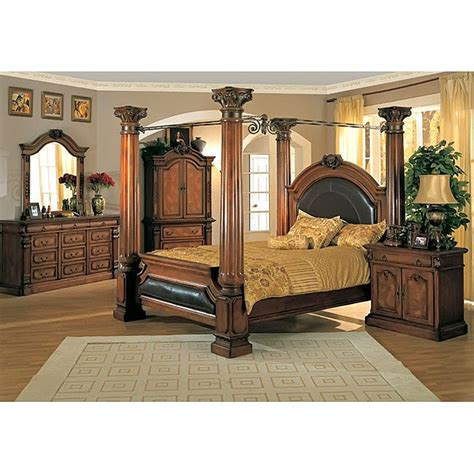 King Size Poster Bedroom Sets by Classic Canopy Poster King Size 4 Bedroom Set Free