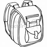 Backpack Outline Clipart Bag Cartoon Drawing Clip Padded Straps Clipartmag Royalty Cliparts Vector sketch template