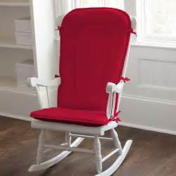 solid red rocking chair pad carousel designs