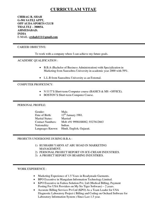 Us Format Resume by Resume Format In Usa Resume Ideas