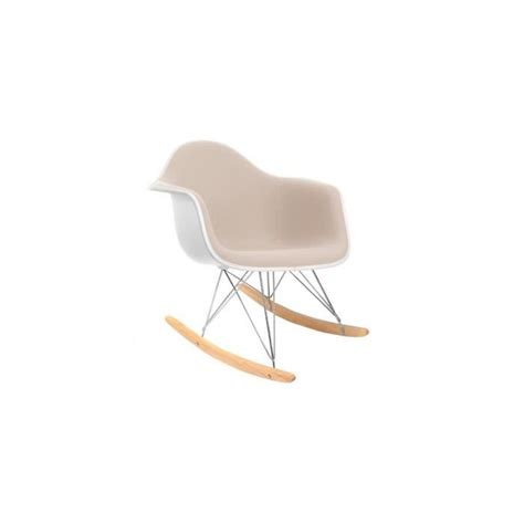 chaise a bascule blanche chaise eames rar awesome rar rocking chair eames offwhite