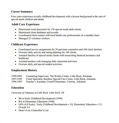 Resume Format Exles Pdf by Sle Functional Resume 5 Documents In Pdf