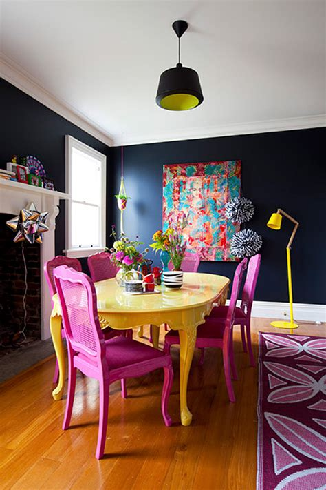 colorful painted dining table inspiration addicted  decorating