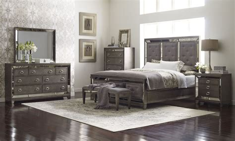 regency rich platinum painted panel bedroom set