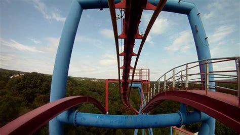 riding  superman roller coaster   flags