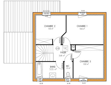 plan maison 3 chambres pin plan etagejpg on