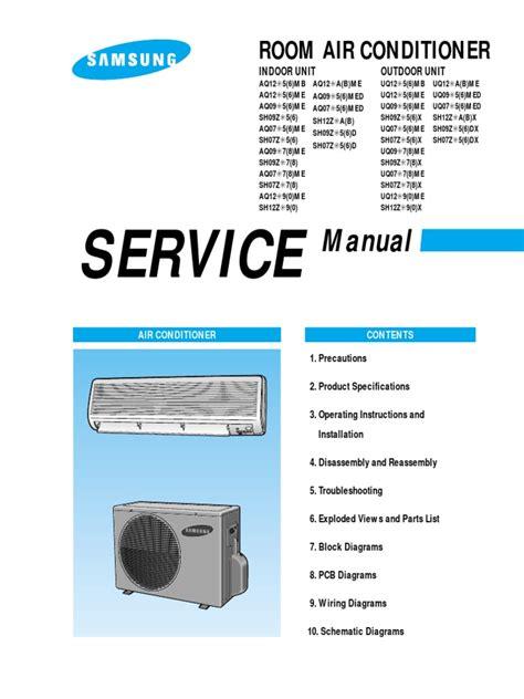lg split air conditioner service manual pdf wiring