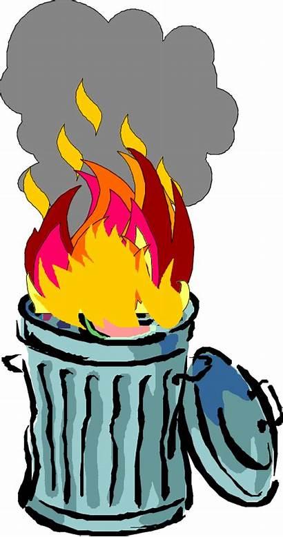 Burning Trash Clipart Barrel Clip Waste Fire