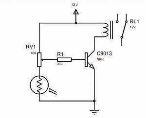 Rangkaian Sensor Cahaya Dengan Ldr Untuk Membuat Lampu