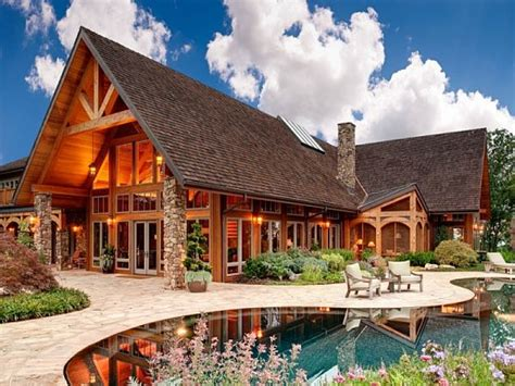 luxury mountain home design rustic mountain home plans stone  wood house plans treesranchcom
