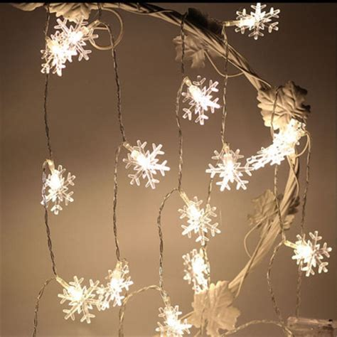 led christmas tree snowflake string fairy lights