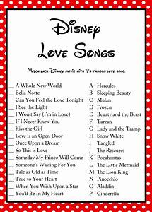 free disney love song bridal shower game bridal shower With printable wedding shower games