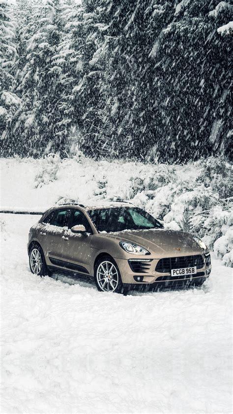 aq porche winter snow car wallpaper