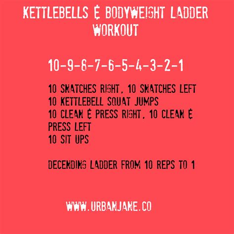 ladder workout kettlebell bodyweight