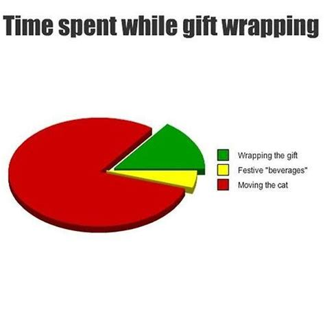 Wrapping Presents Meme - cats christmas tradition