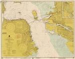 Nautical Chart - San Francisco Bay ca 1975 - Sepia Tinted ...
