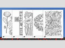 Anzac Day Poppy Themed Mindfulness Colouring Sheets New