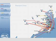China Airlines route map China