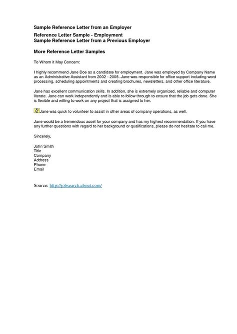 reference letters freereference letter exles business