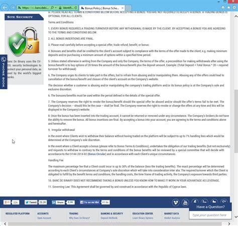 Binary Options Banc De Binary Beware Of Banc De Binary