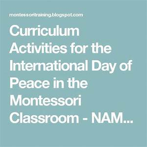 Curriculum Activities for the International Day of Peace ...