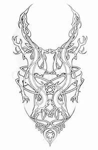 Sketch of tatto art, celtic design Stock Photo Colourbox