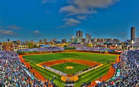 Chicago Skyline Wallpaper Hd Chicago Cubs Phone Wallpaper Wallpapersafari