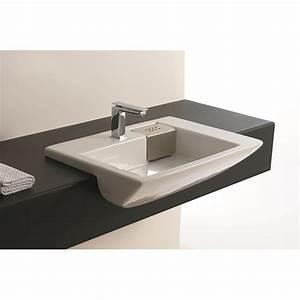 lavabo encastrable salle de bain affordable lavabo With vasque salle de bain semi encastrable