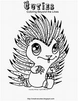 Coloring Pages Cuties Hedgehog Cutie Creative Adult Alphabet Animal Colouring Animals Printable Zenias Disney Adults Dibujos Books Sheets Google Cut sketch template