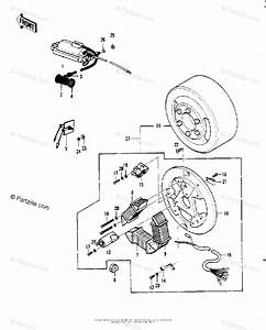 Kawasaki Motorcycle 1973 Oem Parts Diagram For Ignition