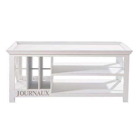 mesa baja de madera blanca an 108 cm newport maisons du monde