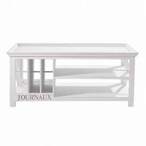 Table Basse Bois : table basse en bois blanche l 108 cm newport maisons du monde ~ Teatrodelosmanantiales.com Idées de Décoration