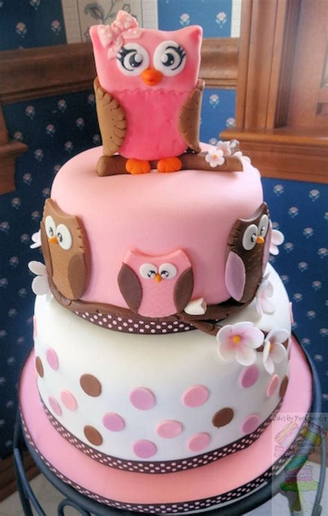 Baby Shower Baby Cake - owl baby shower cake cakecentral
