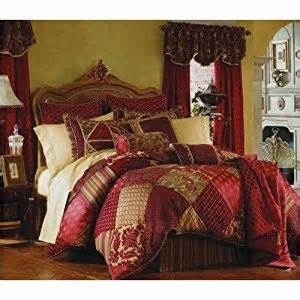 amazon com 10pc luxurious rich bed in a bag comforter set in red burgundy gold tones w