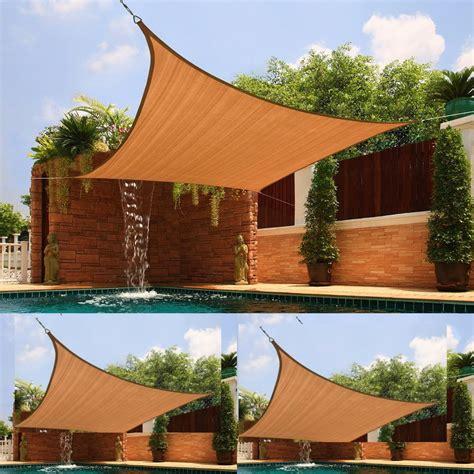 uv sun shade outdoor sun screen portable fabric awning pool patio canopy durable ebay