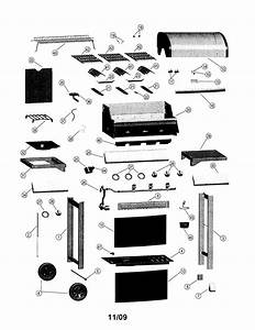 Gas Grill Diagram  U0026 Parts List For Model 464323510 Char