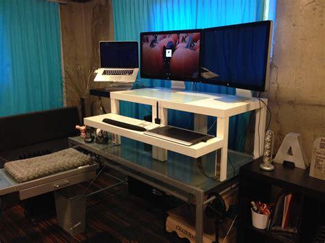 standing desk converter ikea ikea white standing desk converter for 2 with keyboard
