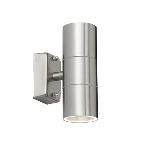 endon el 40095 canon garden wall light stainless steel