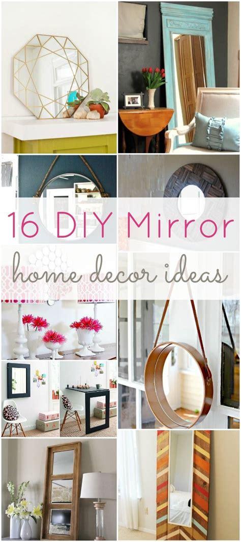 diy mirror home decor ideas