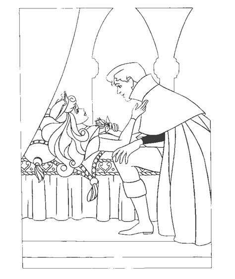 sleeping beauty  colouring pages