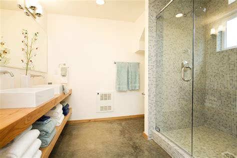 your floor and decor flooring nice bathroom design with concrete floor and bathroom vanity plus glass shower door