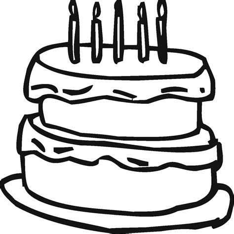 birthday cake outline    clipartmag