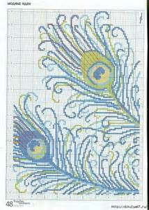 Peacock Feather Cross Stitch