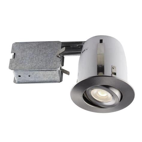 led recessed lighting kit lithonia lighting 4 in matte white recessed gimbal led