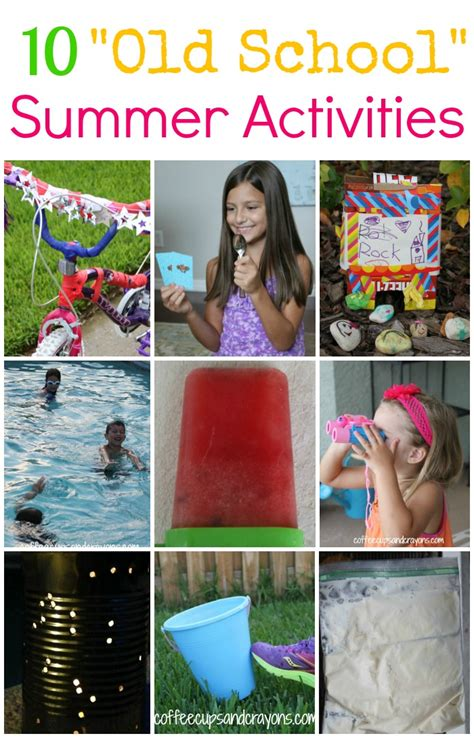 10 school summer activities for coffee cups and 133 | Go old school this summer with some simple and fun activities from when we were little1