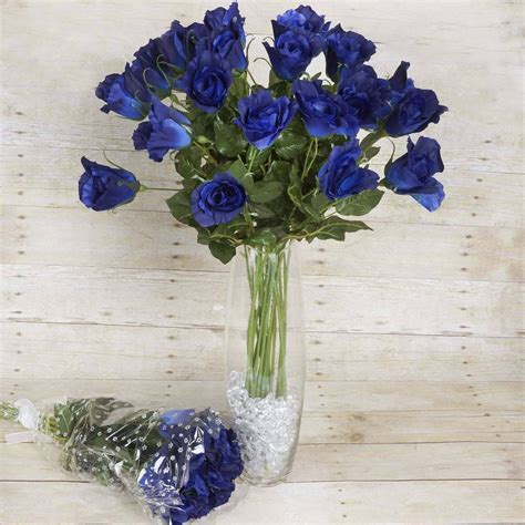 Navy Blue Flower Vases by 48 Artificial Wedding Flower Bundles Vase Centerpiece