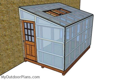 attached greenhouse plans myoutdoorplans