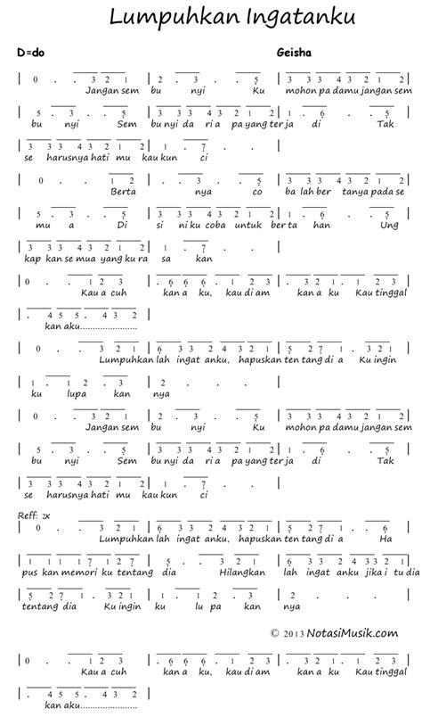 not lagu doraemon notasi lagu no v
