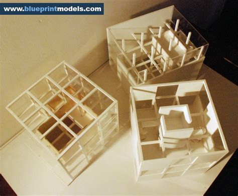 conceptual scale model artist residence architectural