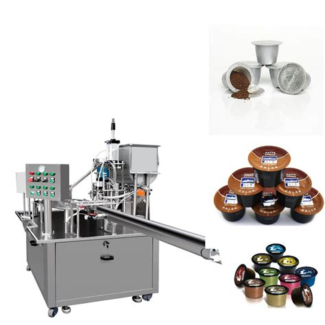 cup nespresso coffee capsule filling sealing machine single serve packaging equipment
